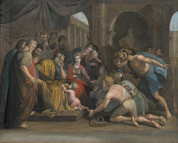 John Hall, Richard Earlom, Benjamin West – Pyrrhos ako dieťa prinášaný do ochrany Glaukiovi, kráľovi Illýrie