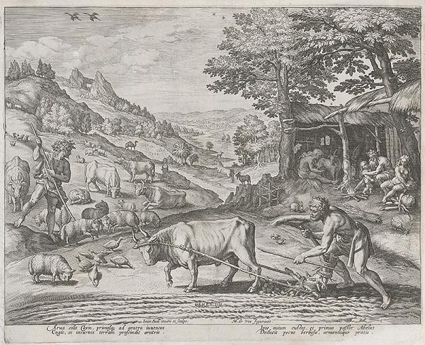 Maarten de Vos st., Jan Sadeler I. – Kain a Ábel pri práci (5)