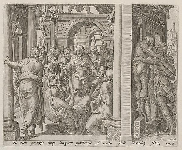 Neznámy rytec, Claesz Jansz Visscher – Ježiš v kraji Gerazénov. Uzdravenie porazeného