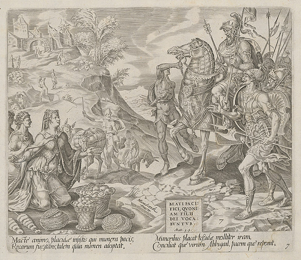Maerten van Heemskerck, Harmen Jansz Muller – Blahoslavení tí, čo šíria pokoj, lebo ich budú volať Božími synmi. Abigail pred Dávidom. (7)