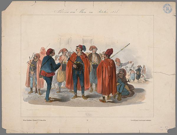 Joseph Lanzedelli ml. – Skica z Viedne-október 1848