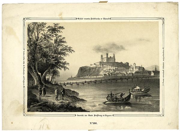 Carl Wilhelm Medau, Ferdinand Zelinka, William Henry Bartlett – Bratislava v 19. storočí - pohľad z juhu