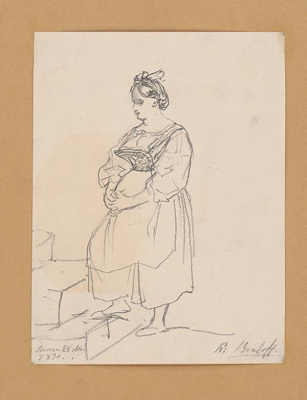Carl Bruloff - Žena na schodoch