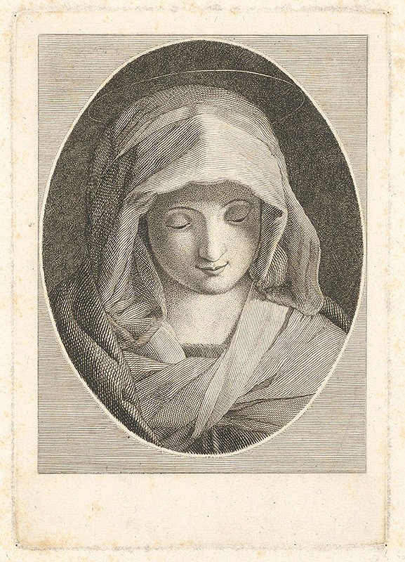 Stredoeurópsky grafik z 18. storočia - Panna Mária