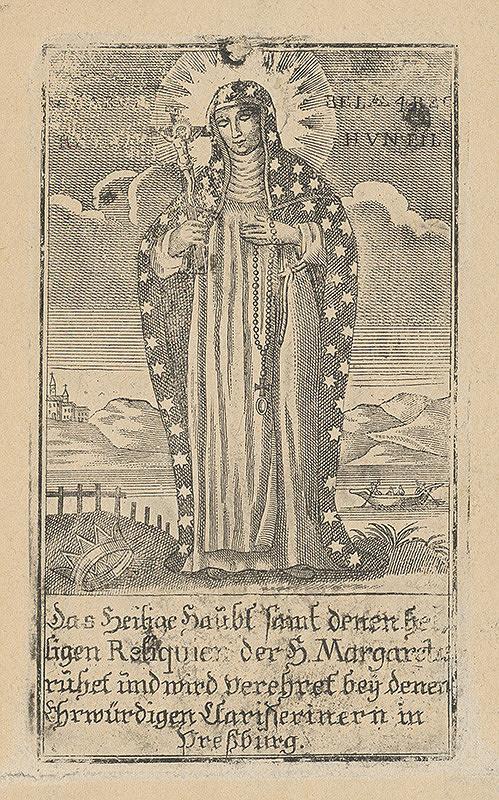 Stredoeurópsky grafik z 18. storočia – Svätá Margaréta