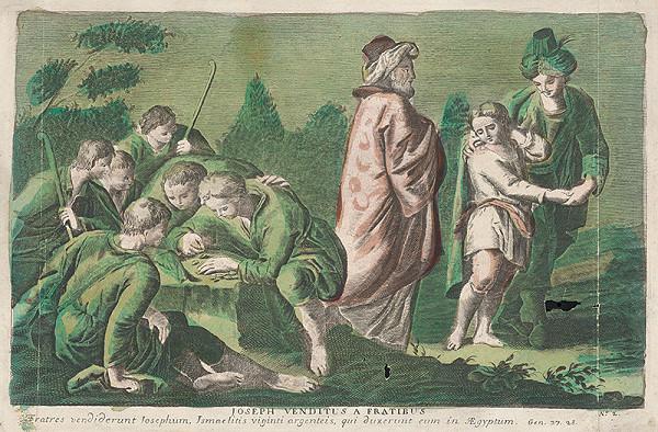 Stredoeurópsky grafik zo 17. storočia – Jozefa predajú jeho bratia