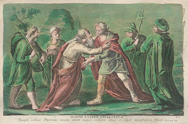 Stredoeurópsky grafik zo 17. storočia – Jozef sa stretáva s otcom