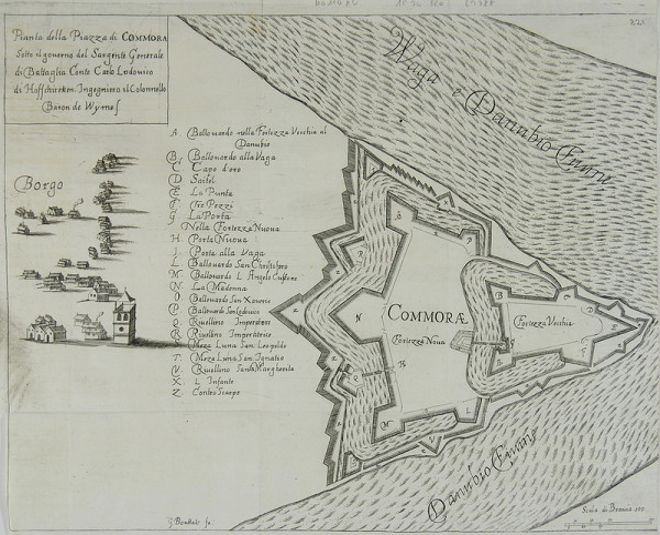 Gaspar Bouttats – Pôdorys pevnosti Komárno