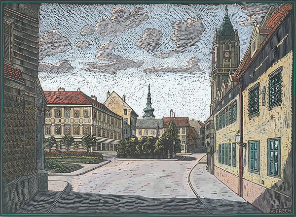 Karol Frech - Hlavné námestie v Bratislave