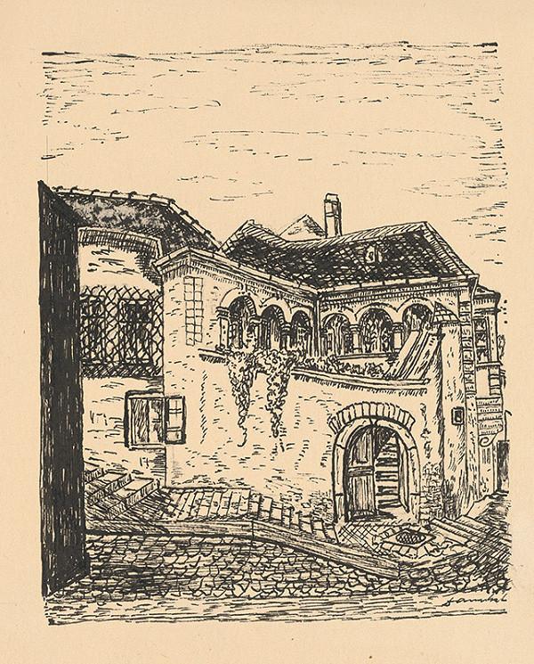 Stredoeurópsky grafik z 1. polovice 20. storočia – Zámocké schody
