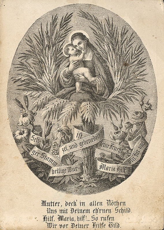 Nemecký grafik z 19. storočia – Madona
