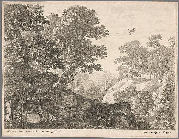 Herman van Swanevelt – Dvaja svätci v jaskyni