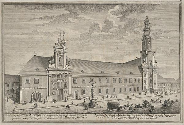 Salomon Kleiner – Kostol sv. Jána Krstiteľa a kláštor Milosrdných bratov vo Viedni