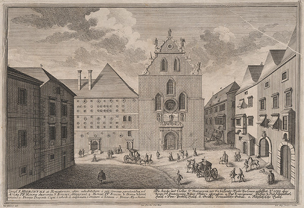 Salomon Kleiner – Kostol a kláštor sv. Hieronyma vo Viedni