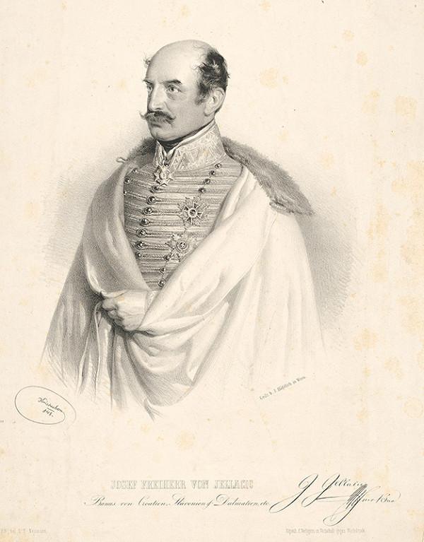Joseph Kriehuber - Podobizeň slobodného pána Jellačiča