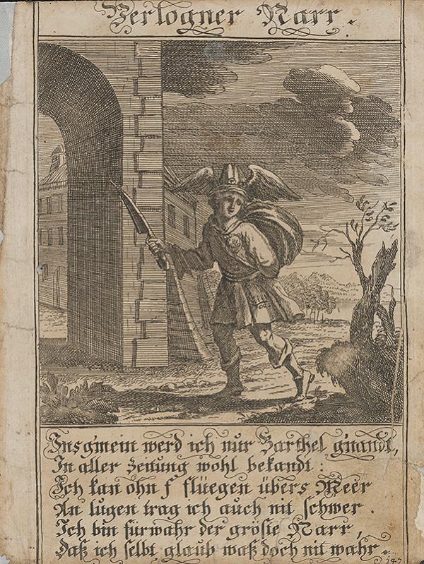 Stredoeurópsky grafik z 1. polovice 18. storočia – Potulný blázon