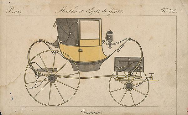 Stredoeurópsky grafik z 19. storočia – Bežecký dostavník