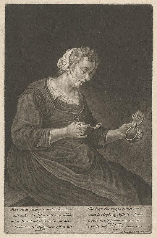 Johann Jacob Haid – Fajčiarka