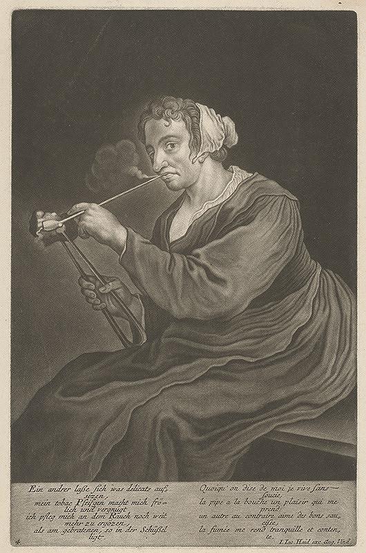 Johann Jacob Haid – Fajčiarka II.