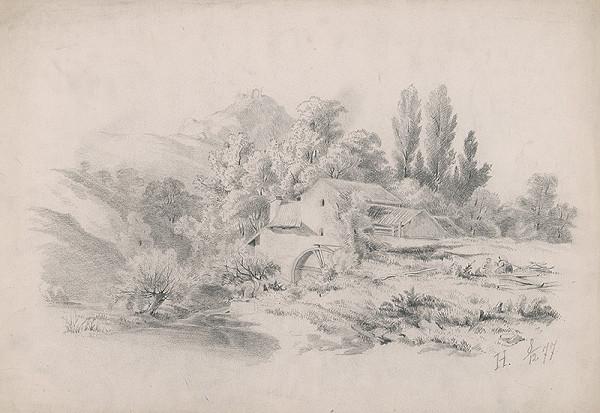Stredoeurópsky grafik z 19. storočia - Mlyn
