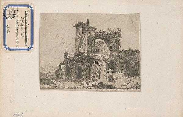 Stredoeurópsky grafik z 18. storočia – Zrúcanina domu
