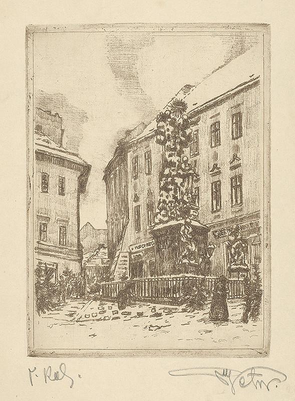 Stredoeurópsky grafik z 20. storočia – Námestie v Brne
