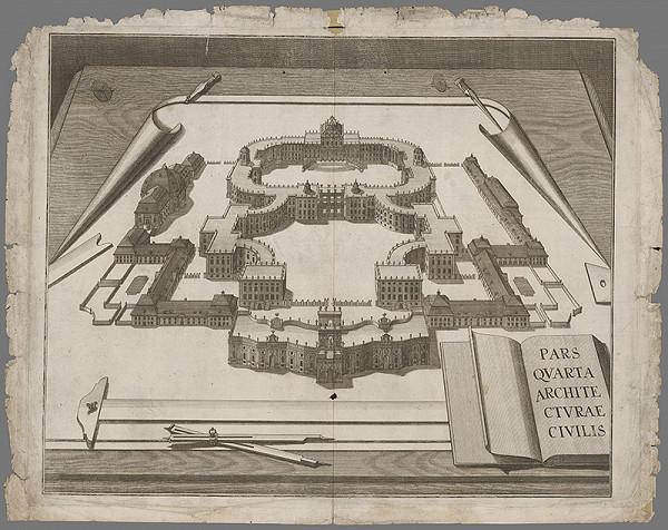 Stredoeurópsky grafik z konca 17. a začiatku 18. storočia - Fasáda zámku vo Versailles