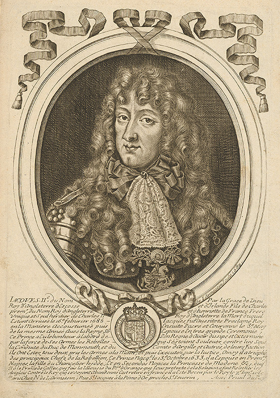 Nicolas de Larmessin - Portrét anglického kráľa Jakuba II.