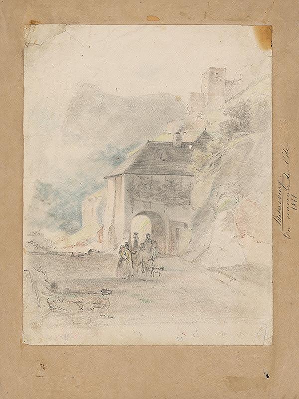 Stredoeurópsky grafik z 19. storočia - Hrad Červený Kameň