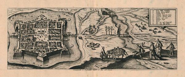 Pieter van der Borcht I., Joris Hoefnagel, Jacob Hoefnagel - Pohľad na pevnosť Nové Zámky