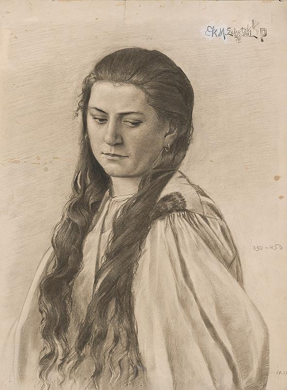 Karol Miloslav Lehotský - Portrét ženy