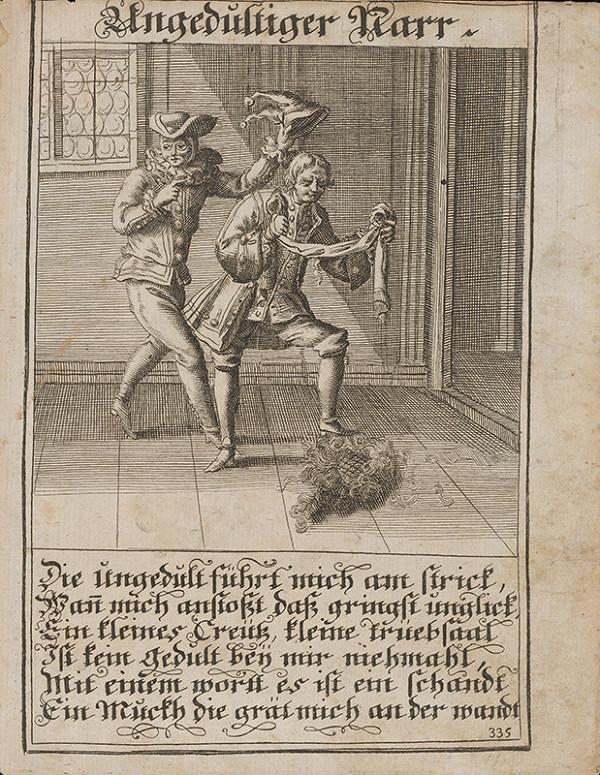 Nemecký grafik z 1. polovice 18. storočia – Netrpezlivý blázon