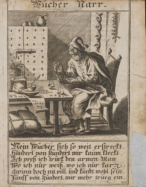 Nemecký grafik z 1. polovice 18. storočia – Blázon-úžerník