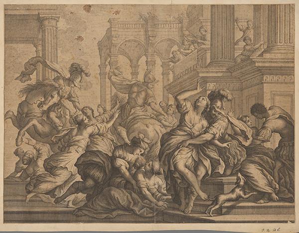 Stredoeurópsky grafik z 18. storočia – Lúpež Sabiniek