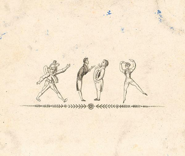 Stredoeurópsky grafik z 19. storočia - Tanečná scéna