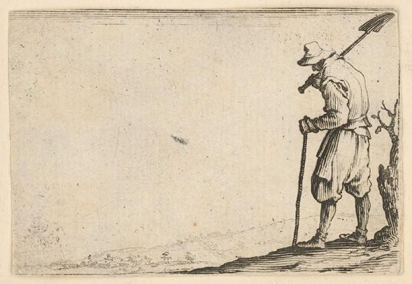 Jacques Callot - Robotník s lopatou