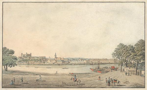 Jozef Anton Lántz – Pohľad na Bratislavu z juhu