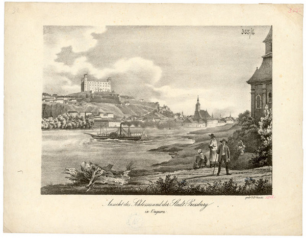 Jakob Alt, Jozef Kunike – Pohľad na Bratislavu z juhozápadu