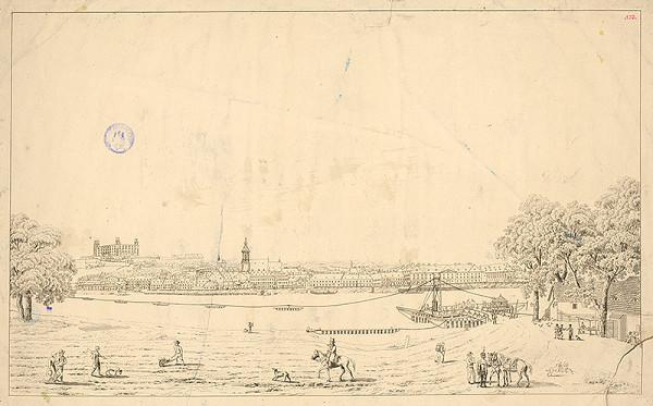 Jozef Anton Lántz – Bratislava v 19. storočí - pohľad z juhu