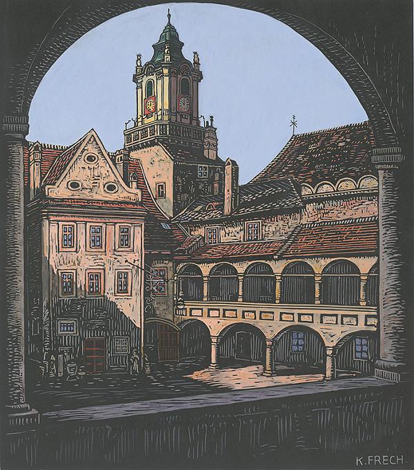 Karol Frech - Radničné nádvorie v Bratislave