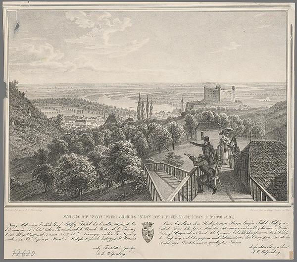Ignaz Josef Weissenberg – Pohľad na  Bratislavu z Koliby