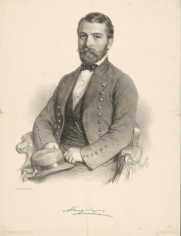 Miklós Barabás – Portrét Ľudovíta Abonyiho