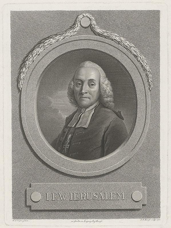 Johann Friedrich Bause, Adam Friedrich Oeser – Johann Friedrich Wilhelm Jerusalem