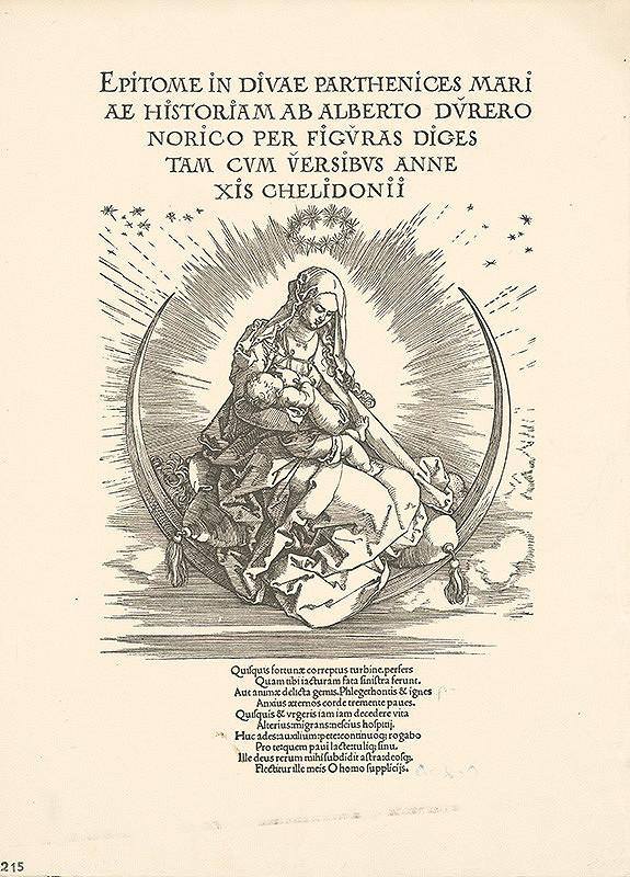 Albrecht Dürer - Mária s dieťaťom