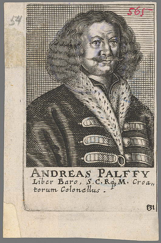 Stredoeurópky grafik z 2. polovice 18. storočia – Portrét grófa Andreja Pálffyho z Erdödu