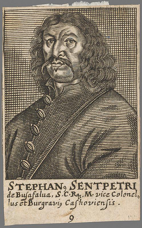 Stredoeurópsky grafik z 2. polovice 17. storočia – Portrét Štefana Sentpetri