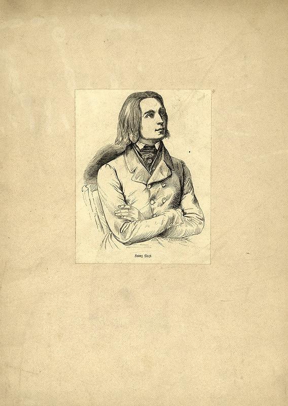 Johann Gottfried Flegel – Portrét Franza Liszta