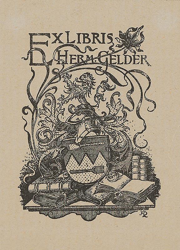 Stredoeurópsky grafik z 20. storočia - Ex libris Herm.Gelder