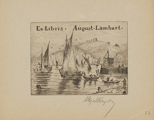Stredoeurópsky grafik z 20. storočia – Ex libris August Lambart
