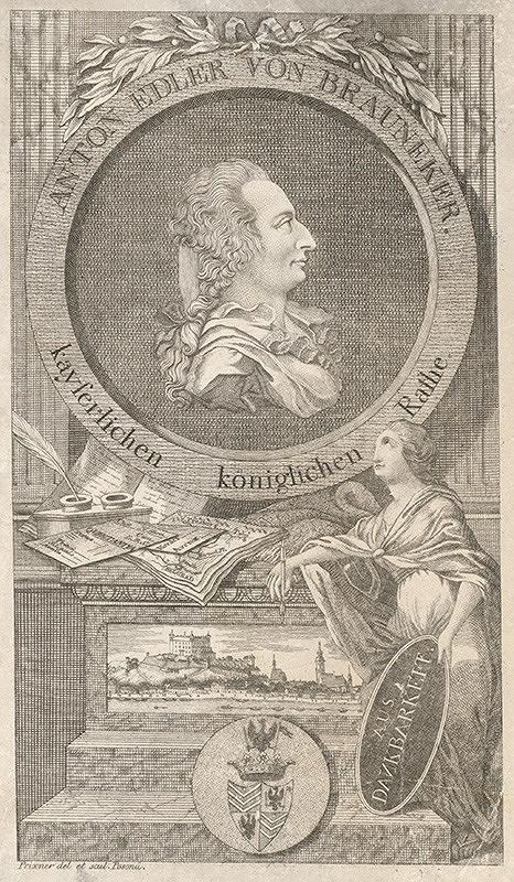 Gottfried Prixner - Portrét Antona Braunekera